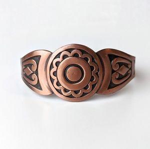 Native Southwestern Boho Copper Cuff